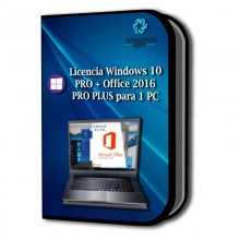 Licencia Windows 10 PRO + Office 2016 PRO PLUS para 1 PC