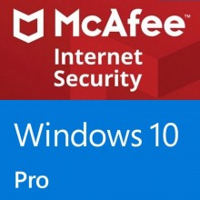 Windows 10 Pro + McAfee Internet Security 10 Devices - 1 year
