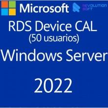 Remote Desktop Services (50 Dispositivos) para Windows Server 2022